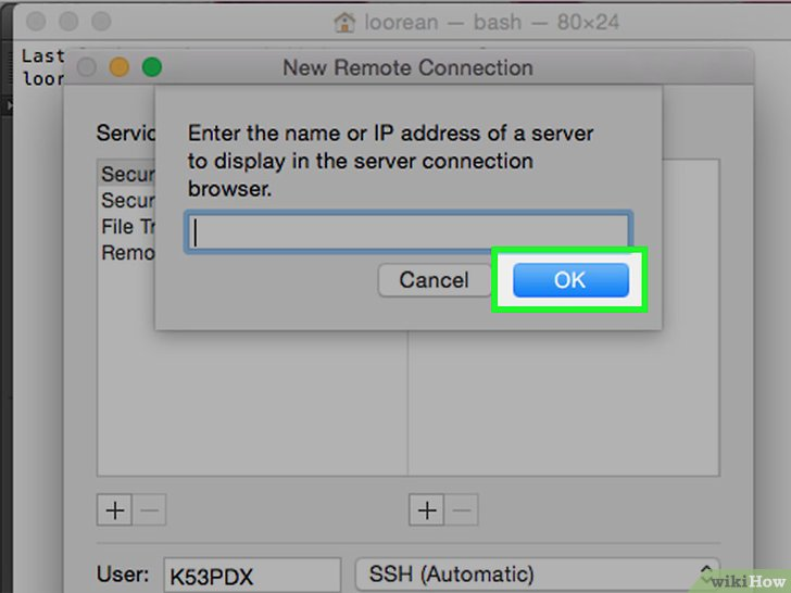 以Use Telnet on Mac OS X Step 9为标题的图片